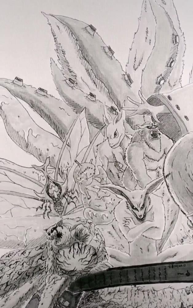 网友手绘一幅漩涡鸣人,拍卖1.4万,多人求购,网友:值这个价